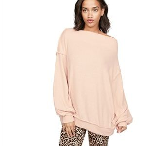 FREE PEOPLE Main Saueeze Hacci Pullover NWT M